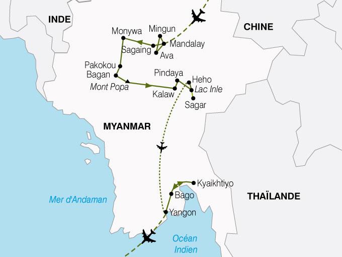 Exceptionnel Circuit en Birmanie : Trésors Birmans 15 jours - Salaün Holidays YH57