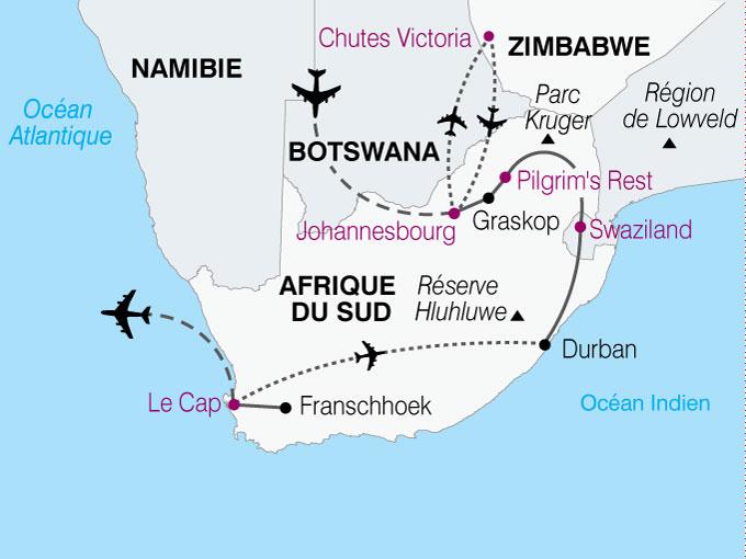 Préférence Circuit Afrique du Sud - Zimbabwe : Afrique Australe, du Cap de  SF92