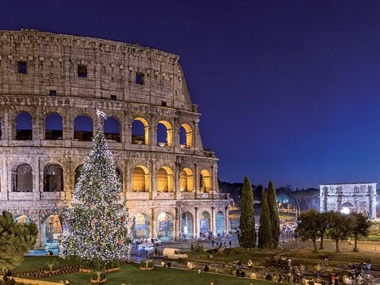 Image  italie rome noel
