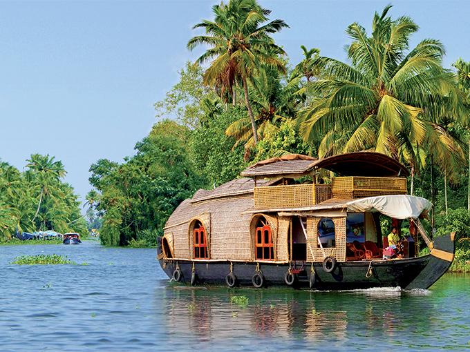 Image Asie Inde House boat a Kumarakom
