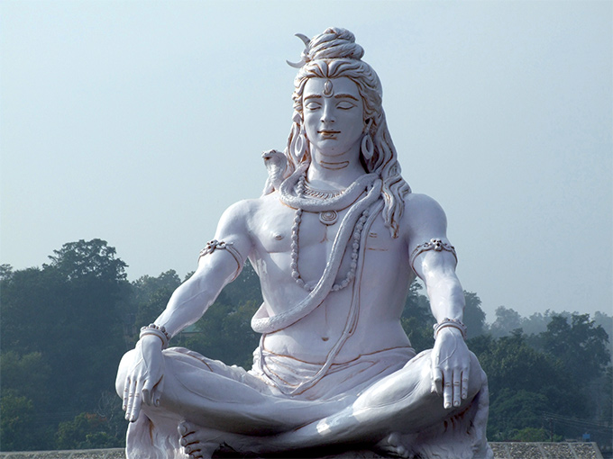 Image Asie Inde Rishikesh statue de shiva