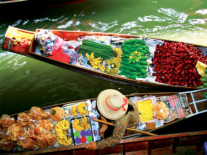 Image Asie Thailande marche flottant de damnoen saduak