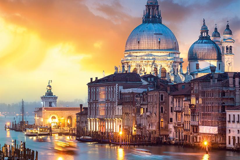 Image Italie Venise coucher de soleil sur le Grand Canal 17 as_135590119
