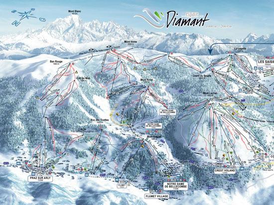 Image alpes express praz sur arly carte