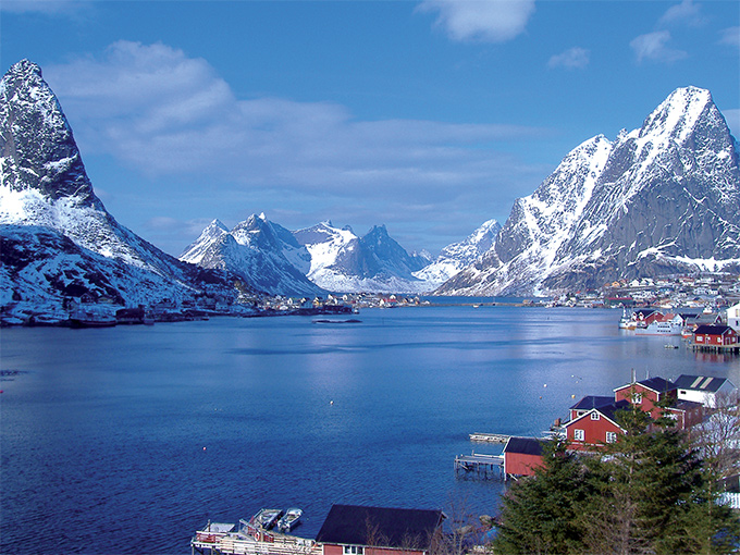 Image the reinefjord in lofoten