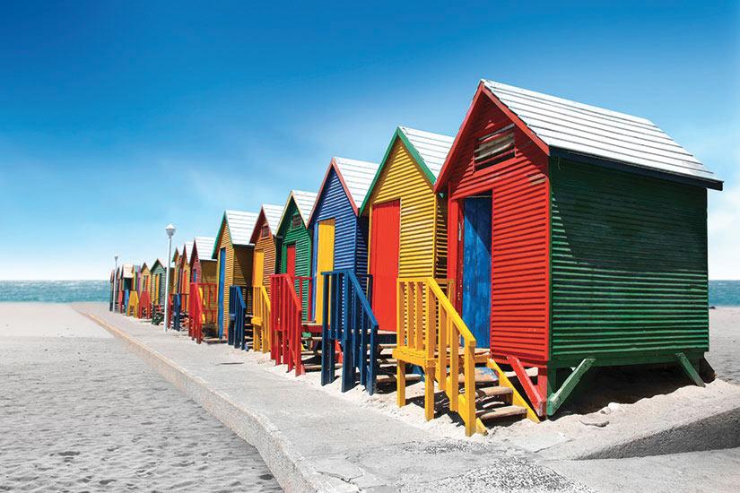 image Afrique du Sud Cape Town Cabines bain  fo