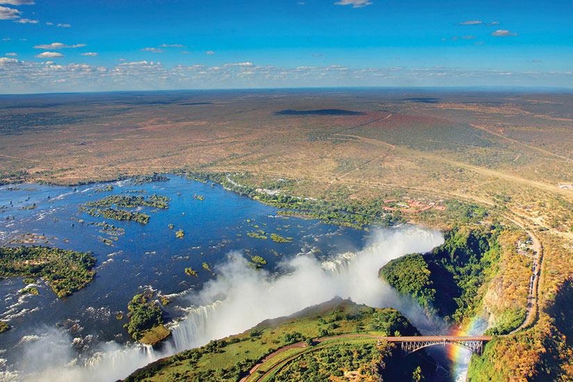 image Afrique du Sud Zimbabwe Chutes Victoria  fo