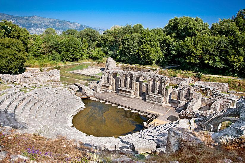 image Albanie Butrint Amphitheatre ancienne Baptistere  it