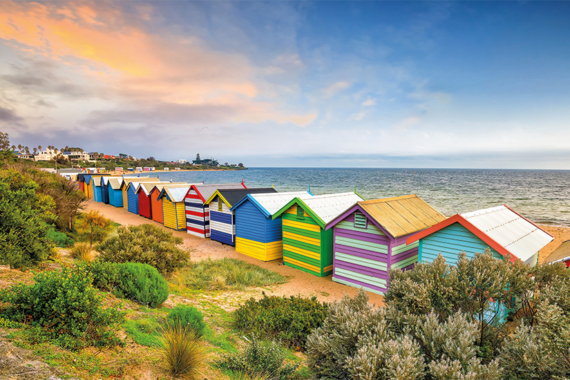 image Australie Melbourne maison de plage coloree a Brighton Plage 55 as_178021831