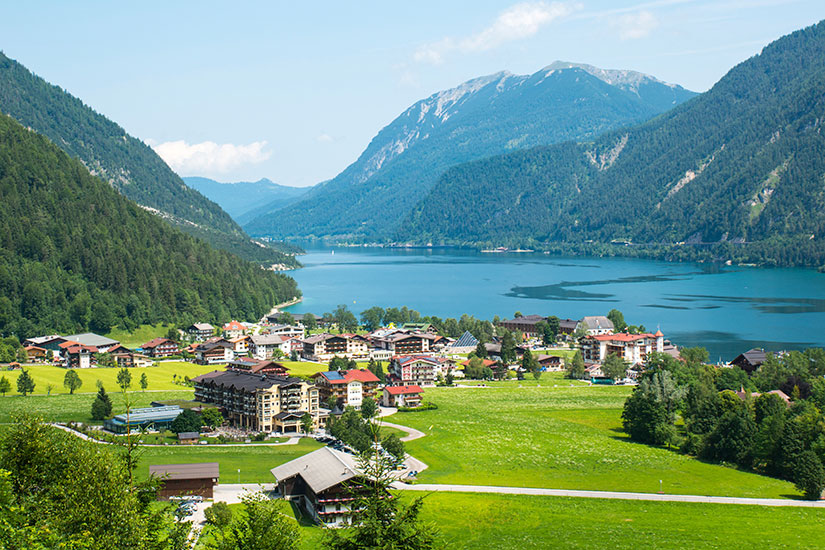 image Autriche Achensee panorama lac  it