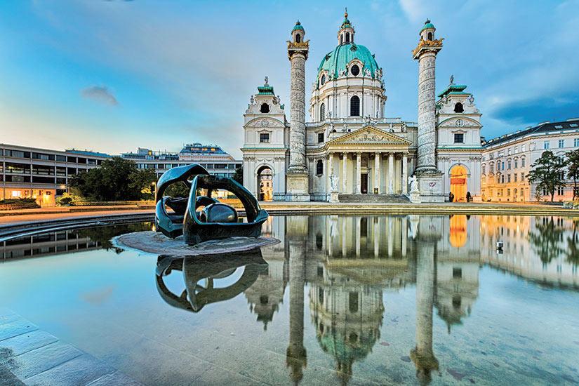 image Autriche Vienne Karlskirche  fo