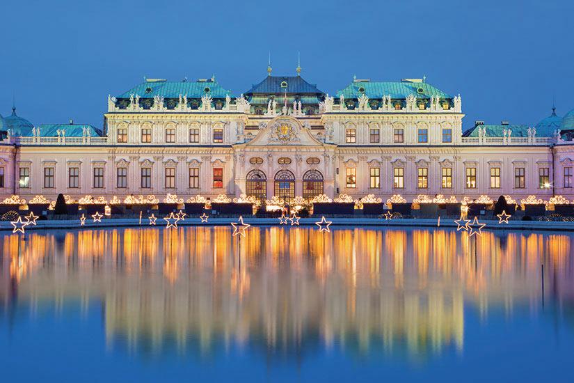image Autriche Vienne palais Belvedere avec marche de Noel  fo