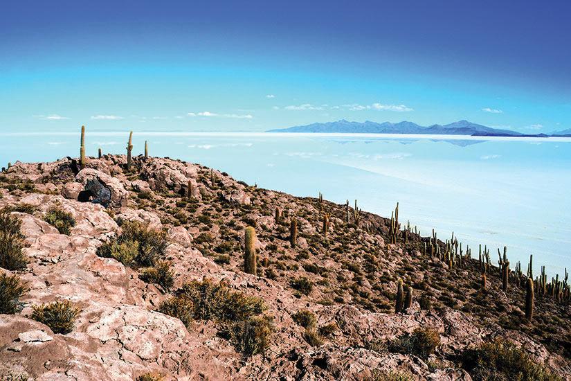 image Bolivie Salar de Uyuni Lac sale Panorama  fo