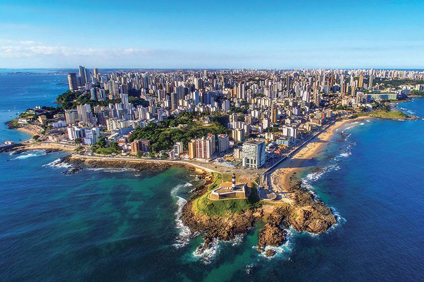 image Bresil Bahia Vue aerienne de la ville de Salvador de Bahia  it
