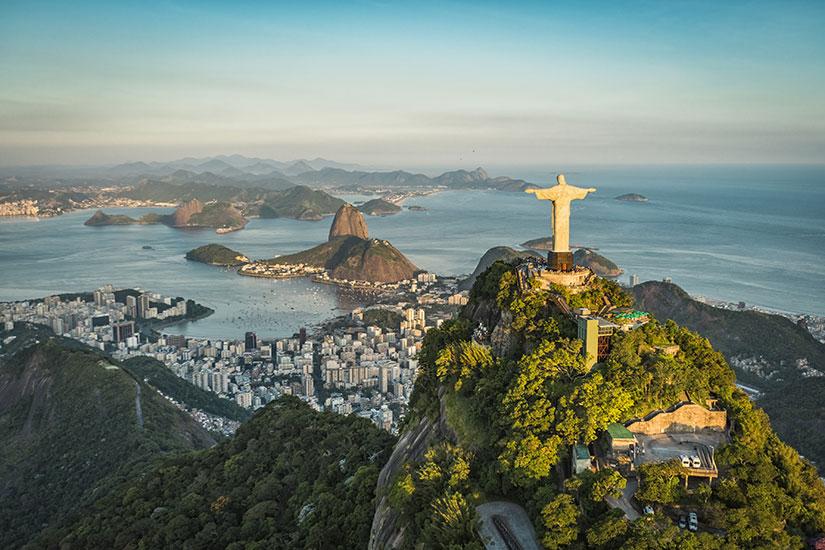 image Bresil Rio de Janeiro Christ Botafogo Bay  fo