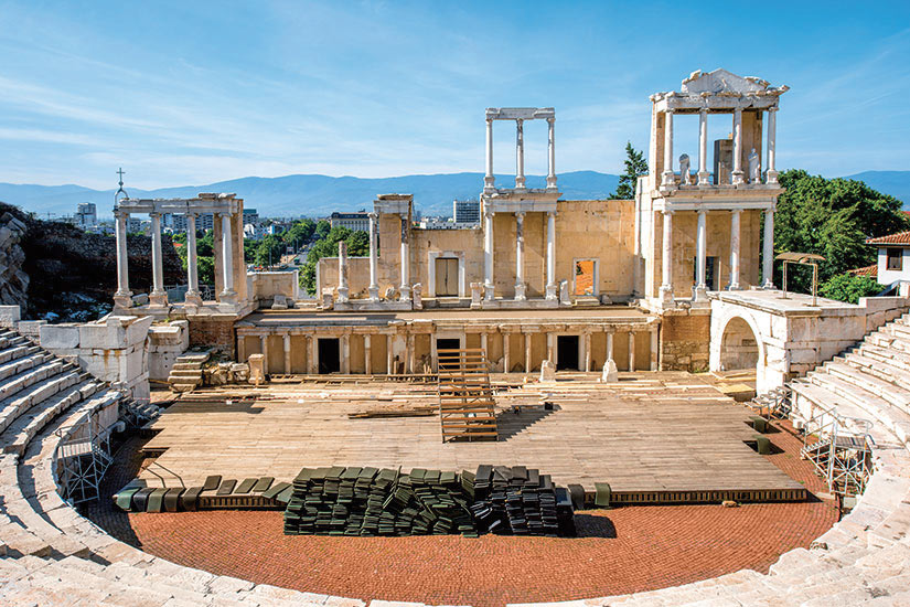 image Bulgarie Plovdiv Theatre romain  fo