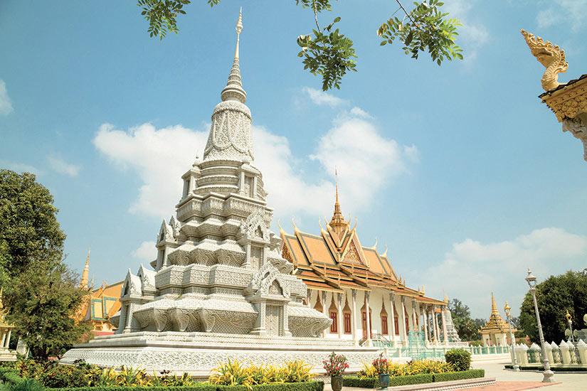 image Cambodge Palais Royal Pagode d argent  fo