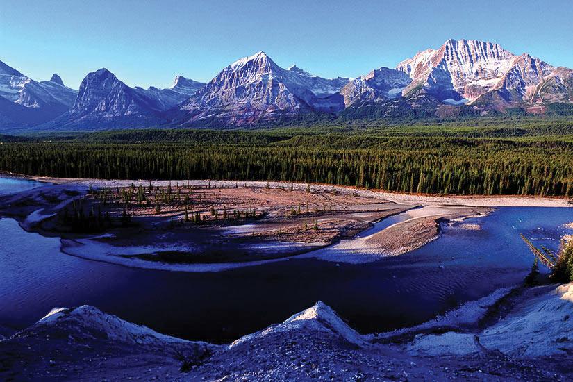 image Canada Parc National Jasper Riviere Athabasca et Jasper paysage  it