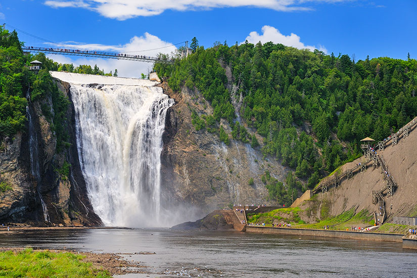 image Canada Quebec chute Montmorency  fo