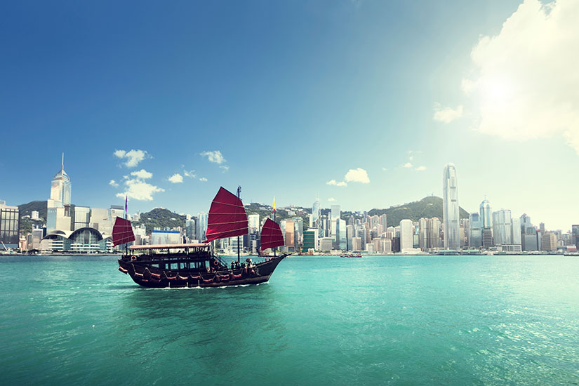 image Chine Hong Kong Bateau port  it