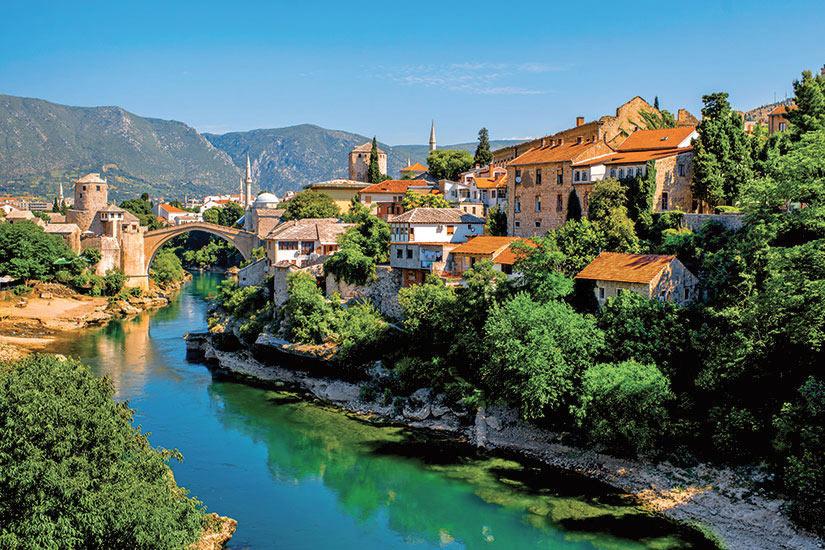 image Croatie Mostar vue sur la ville  it