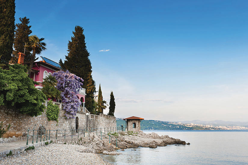 image Croatie Opatija Mer Adriatique Panorama  it