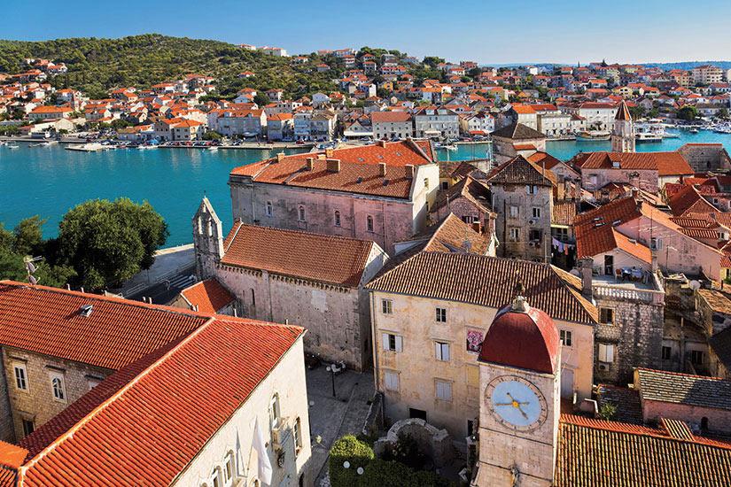 image Croatie Trogir vue aerienne de la ville  it