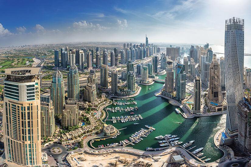 image Emirats Arabes Unis Dubai vue aerienne  fo