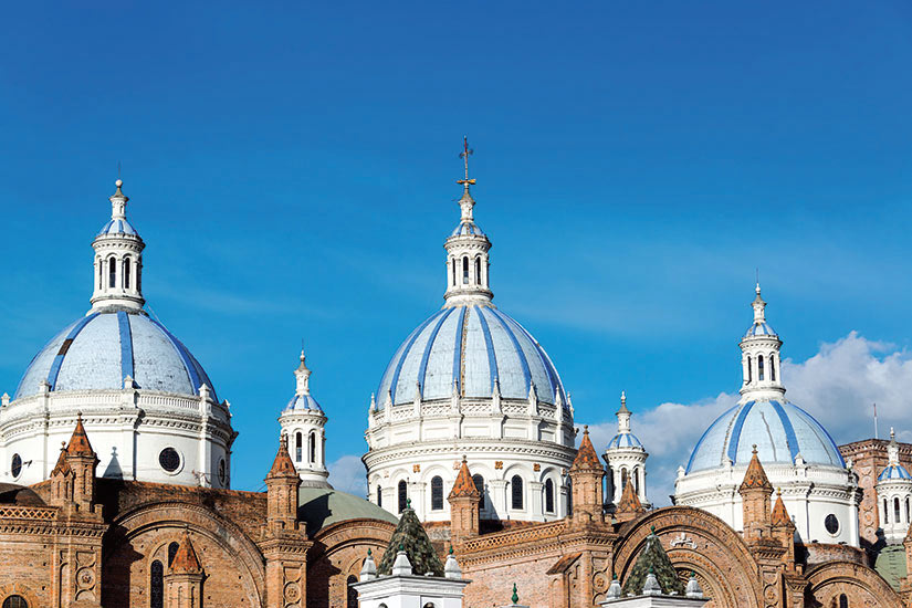 image Equateur Cuenca Cathedrale Cuenca Domes  fo