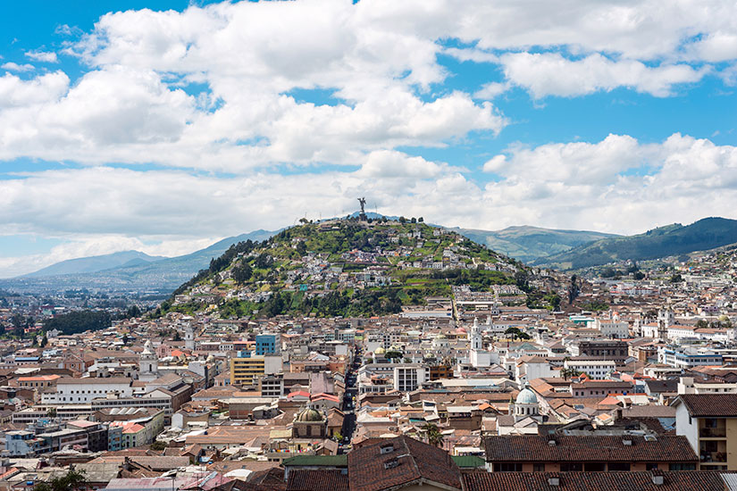 image Equateur Quito panorama  it