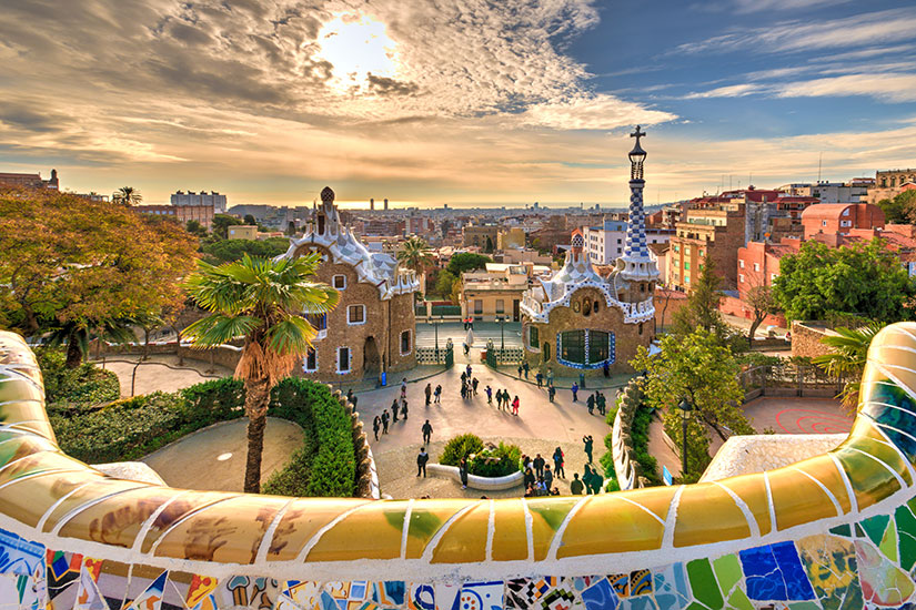 image Espagne Barcelone Parc Guell  fo