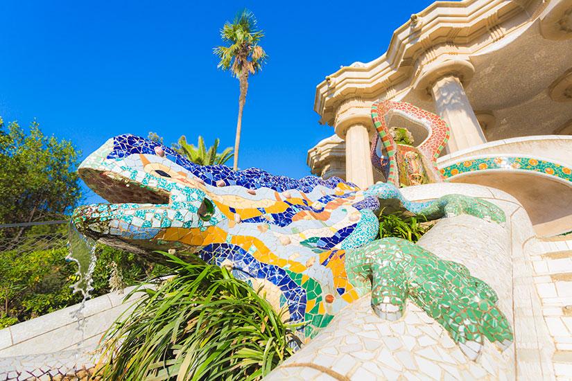image Espagne Barcelone Parc Guell  it