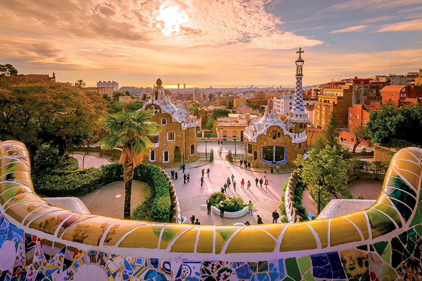 image Espagne Barcelone Parc Guell as_108389062