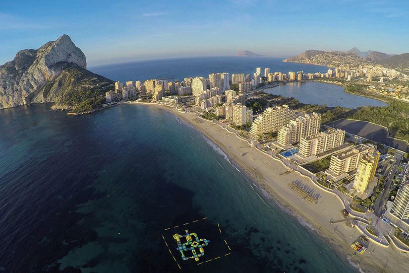 image Espagne Calpe vue aerienne de la plage  fo