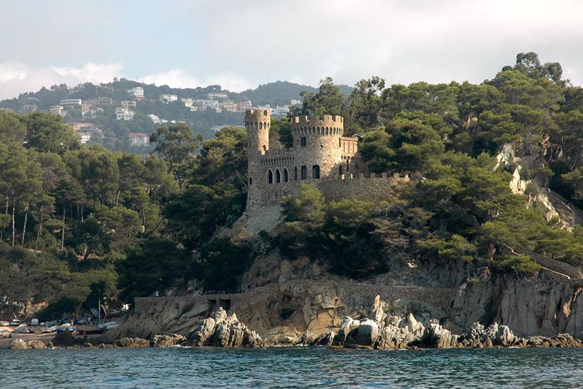 image Espagne Lloret de mar chateau