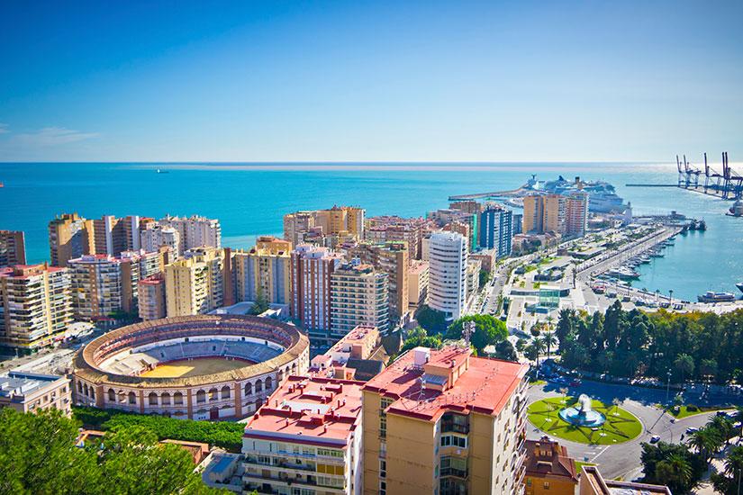 image Espagne Malaga Vue ville  it