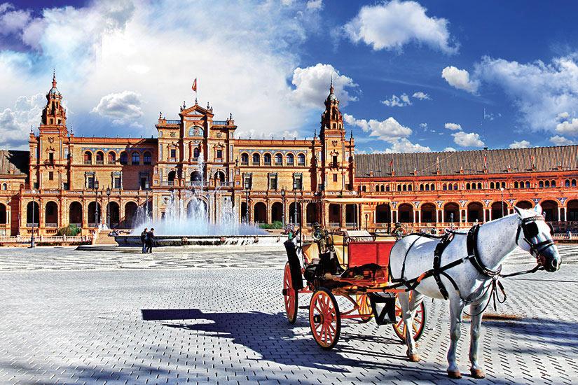 image Espagne Seville place Espagne  fo