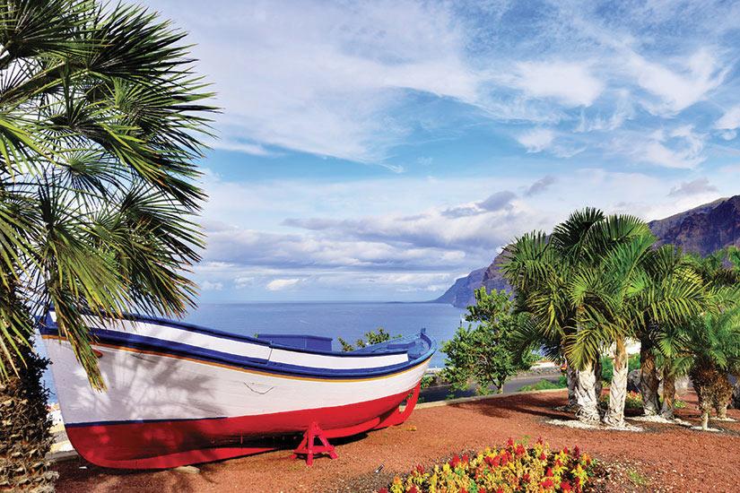 image Espagne Tenerife Bateau traditionnel peche peinte  fo
