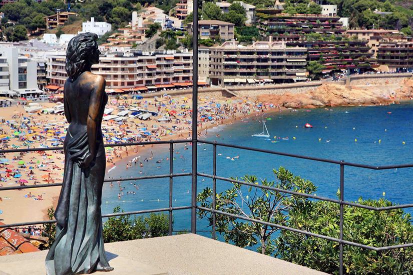 image Espagne Tossa de Mar beach