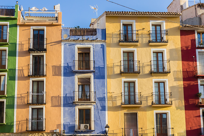 image Espagne Villajoyosa Facades multicolores 50 as_167443303