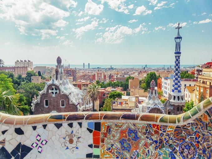 image Espagne barcelone vue ensemble mur