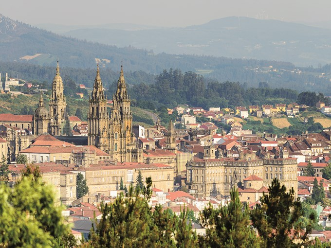image Espagne saint jacques de compostelle vue ensemble