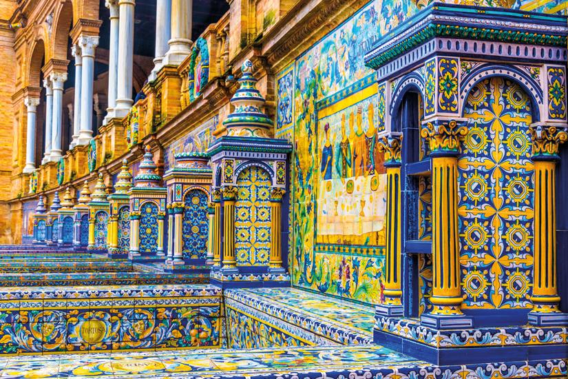 image Espagne seville murs carreles plaza de espana 34 as_130653660