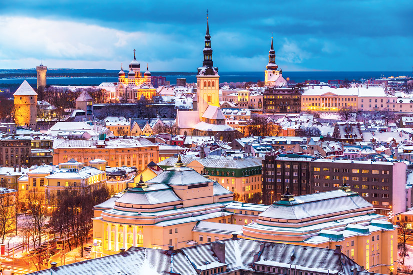 image Estonie tallinn capitales internationales cathedrale colline calcaire toompea hiver 24 it_527368527
