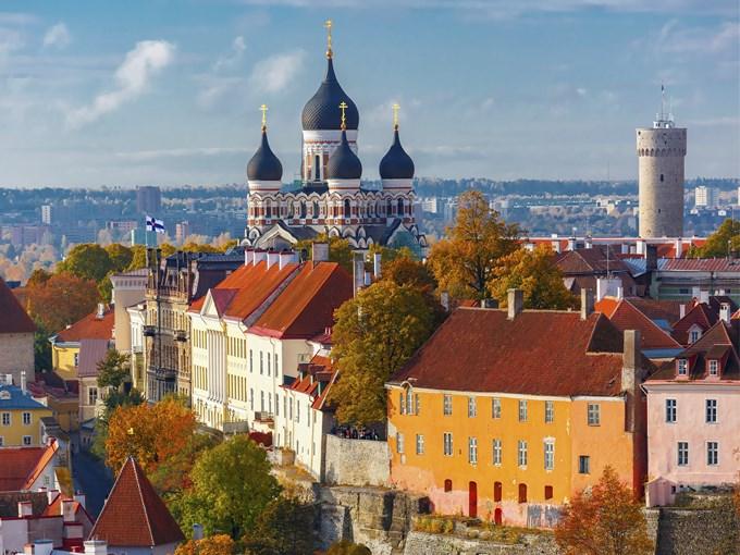 image Estonie tallinn vue aerienne