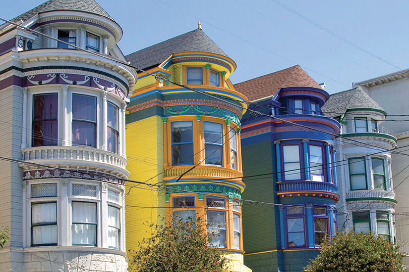image Etats Unis Californie San Francisco maisons victoriennes de couleur  it