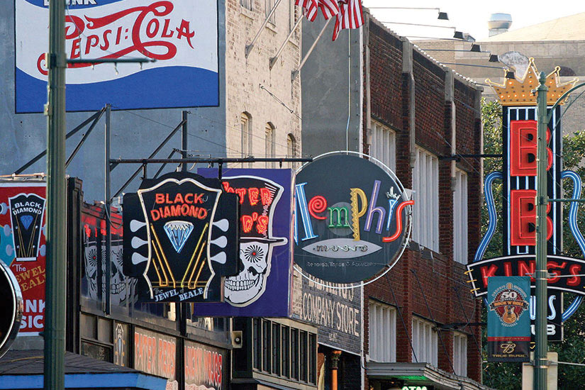 image Etats Unis Memphis centre ville le blues  fo