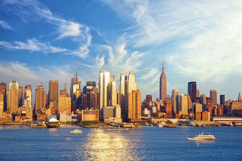 image Etats Unis New York Manhattan coucher du soleil sur le fleuve Hudson 24 as_164202782