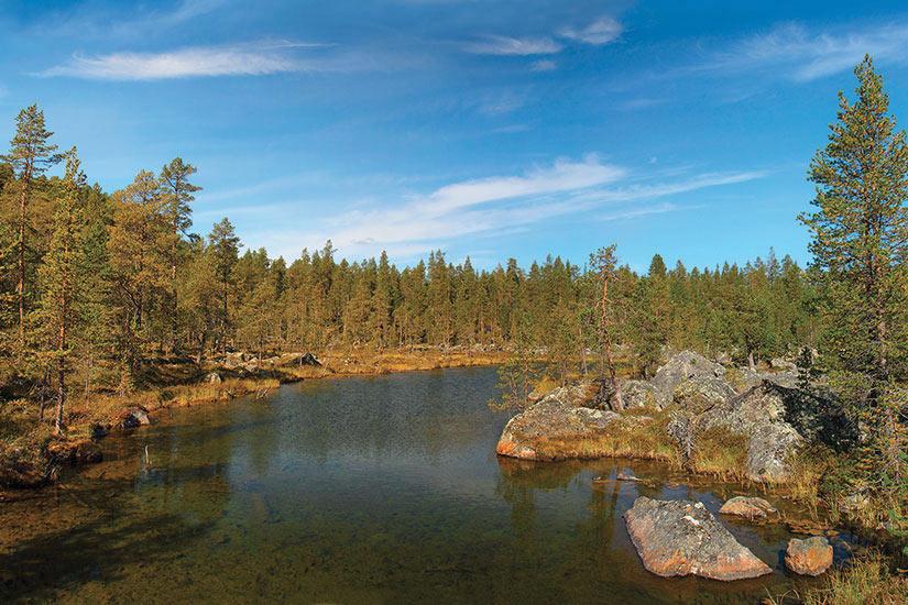 image Finlande Lappland Lac Inari  fo