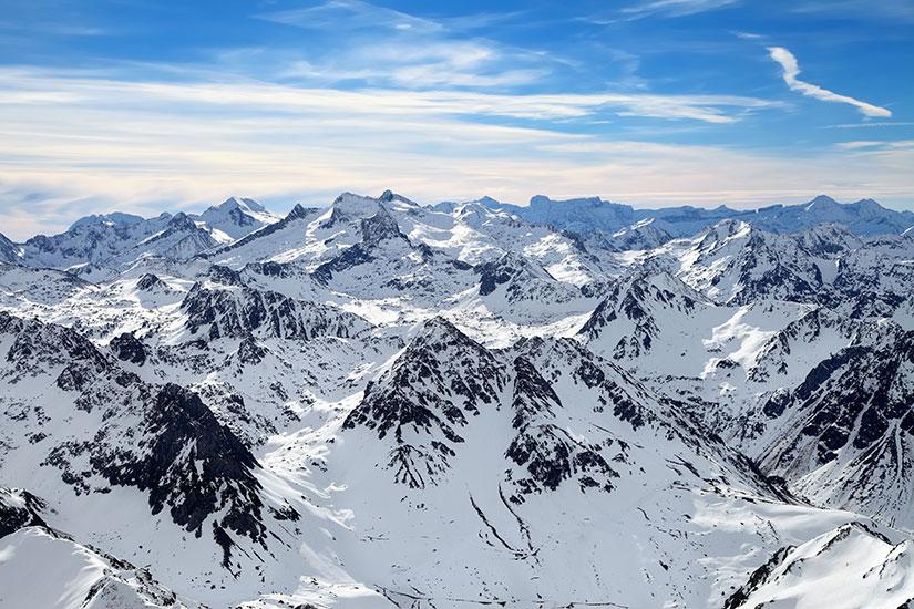 image France Pic Midi panorama hiver  fo